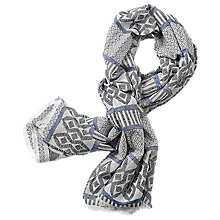 Buy Betty & Co. Graphic Weave Scarf, Classic Blue/White Online at johnlewis.com