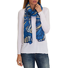 Buy Betty & Co. Butterfly Print Scarf, Blue/Khaki Online at johnlewis.com