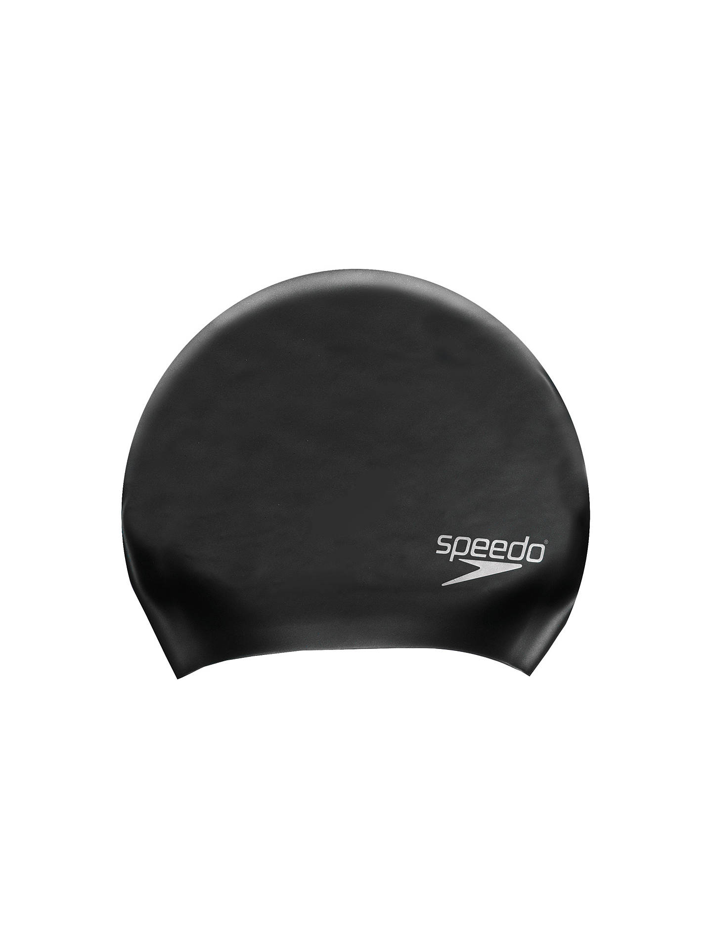 Buy Speedo Long Hair Swimming Cap, Black Online at johnlewis.com