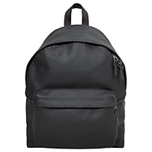 Buy Eastpak Padded Pak'r Leather Backpack, Black Ink Online at johnlewis.com