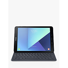 "Buy Samsung Galaxy Tab S3 Tablet with S Pen, Android, 32GB, 4GB RAM, Wi-Fi, 9.7"", Silver with Keyboard Cover, Grey Online at johnlewis.com"
