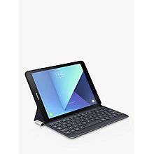 "Buy Samsung Galaxy Tab S3 Tablet with S Pen, Android, 32GB, 4GB RAM, Wi-Fi, 9.7"", Black with Keyboard Cover, Grey Online at johnlewis.com"
