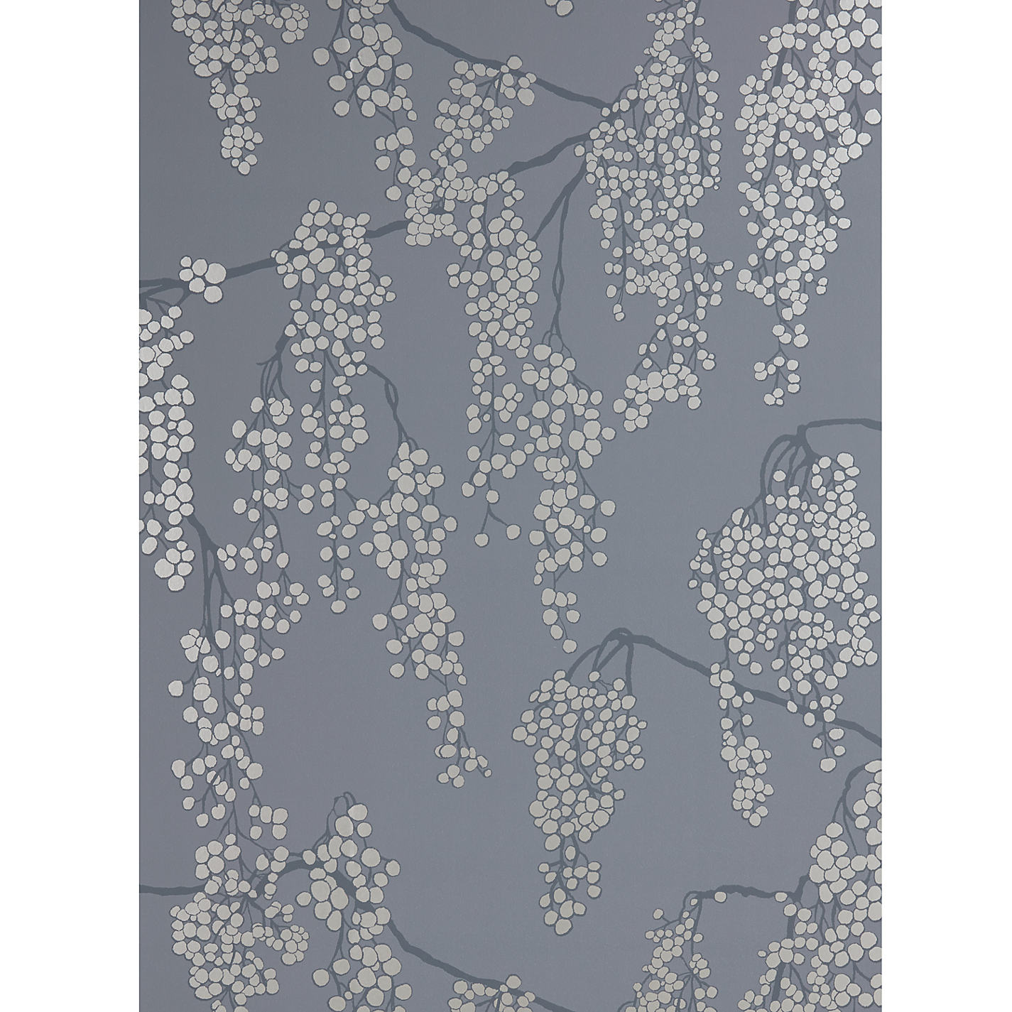 Buy john lewis silver berries wallpaper steel john lewis buy john lewis silver berries wallpaper steel online at johnlewis gumiabroncs Images
