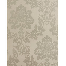 Buy John Lewis Linen Damask Wallpaper, Natural Online at johnlewis.com
