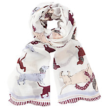 Buy John Lewis Spotty Sausage Dog Scarf, Natural/Multi Online at johnlewis.com