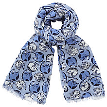 Buy John Lewis Napping Cats Scarf, Blue Mix Online at johnlewis.com