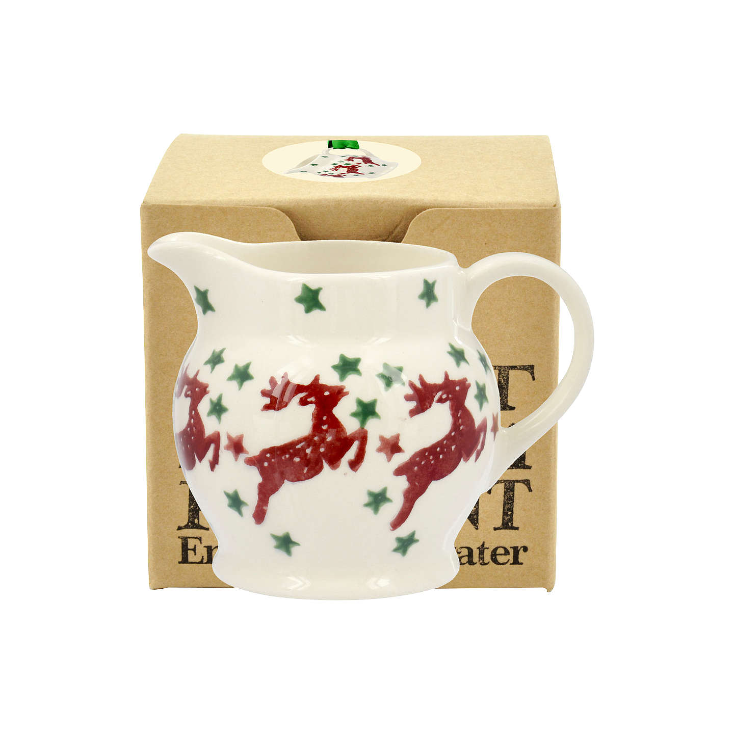 BuyEmma Bridgewater Reindeer Tiny Jug Christmas Tree Decoration, Multi Online at johnlewis.com