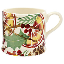 Buy Emma Bridgewater Holly Wreath and Pine Cones Small Mug, Multi, 142ml Online at johnlewis.com