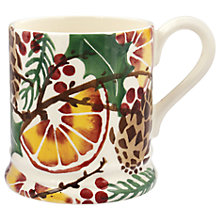Buy Emma Bridgewater Holly Wreath and Pine Cones Half Pint Mug, Multi, 284ml Online at johnlewis.com