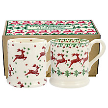 Buy Emma Bridgewater Reindeer Half Pint Mug, Multi, 310ml, Set of 2 Online at johnlewis.com