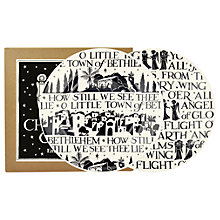 "Buy Emma Bridgewater Christmas Carols 8.5"" Plates, Black/White, Dia.21.1cm, Set of 2 Online at johnlewis.com"