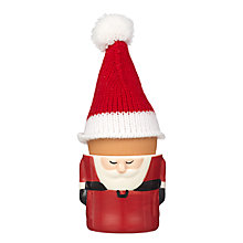 Buy John Lewis Santa Egg Cup, Red/White, Dia.5.6cm Online at johnlewis.com