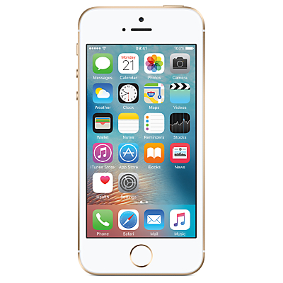 Image of Apple iPhone SE, iOS 10, 4, 4G LTE, SIM Free, 32GB