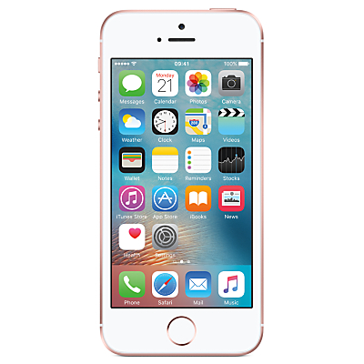 Image of Apple iPhone SE, iOS 10, 4, 4G LTE, SIM Free, 32GB
