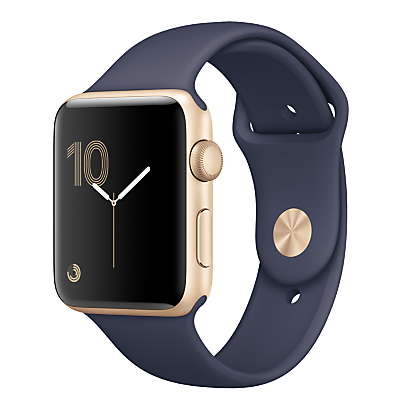 Apple Watch Series 2 42mm Gold Aluminium Case with Sport Band, Midnight Blue