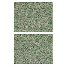 Buy John Lewis Ruskin House Jacquard Placemats, Set of 2, Green/Gold Online at johnlewis.com