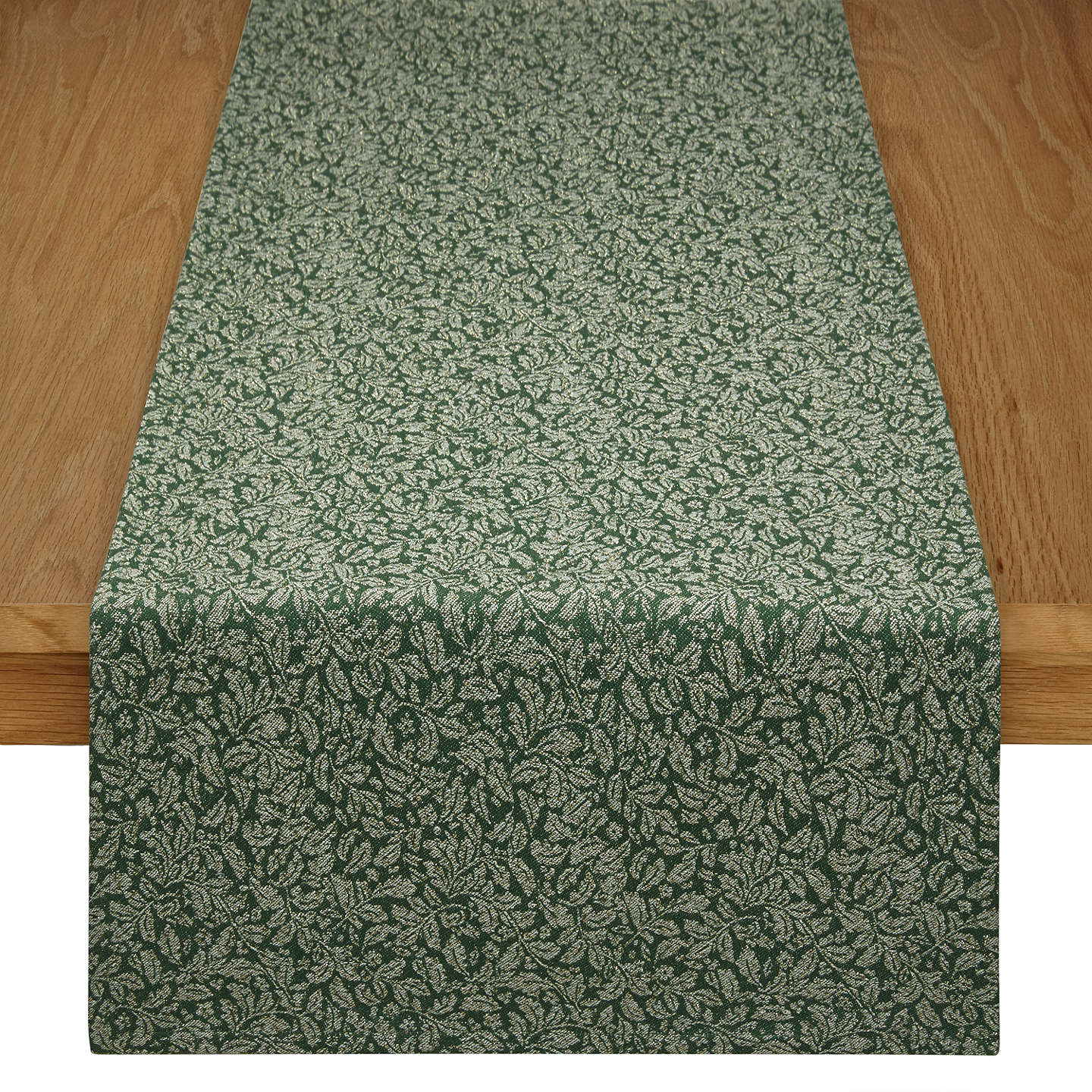 Buyjohn Lewis Ruskin House Jacquard Table Runner, Greengold Online At