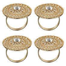 Buy John Lewis Bling Napkin Rings, Gold, Set of 4 Online at johnlewis.com