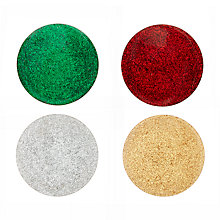 Buy John Lewis Wood Glitter Coasters, Assorted, Dia.10cm, Set of 4 Online at johnlewis.com