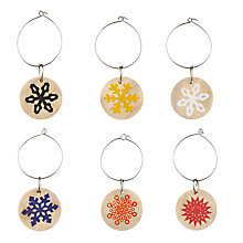 Buy John Lewis Folklore Wine Charms, Multi, Set of 6 Online at johnlewis.com