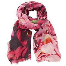 Buy John Lewis Hydrangea Scarf, Pink Mix Online at johnlewis.com