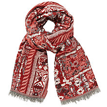 Buy John Lewis Abstract Batik Scarf, Red/Multi Online at johnlewis.com