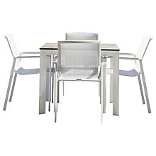 Buy Westminster Madison Square 4 Seater High Pressure Laminate Table Top Garden Dining Set Online at johnlewis.com