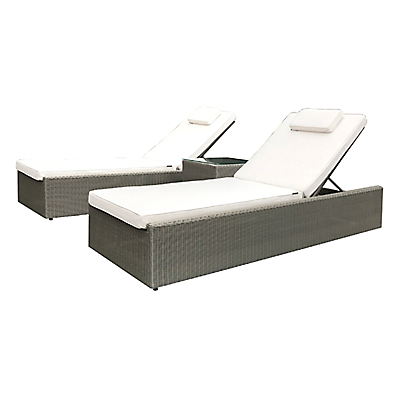 Westminster Valencia Garden Sunlounger and Side Table Set
