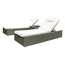 Buy Westminster Valencia Garden Sunlounger and Side Table Set Online at johnlewis.com