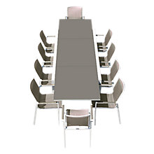 Buy Westminster Madison Rectangular 8-10 Seater Extending Table Garden Dining Set Online at johnlewis.com