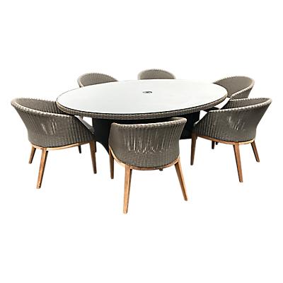 Westminster Valencia/Grace Oval 6 Seater Garden Dining Set, FSC-Certified (Teak)