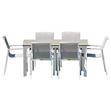 Buy Westminster Madison Rectangular 6 Seater High Pressure Laminate Table Top Garden Dining Set Online at johnlewis.com