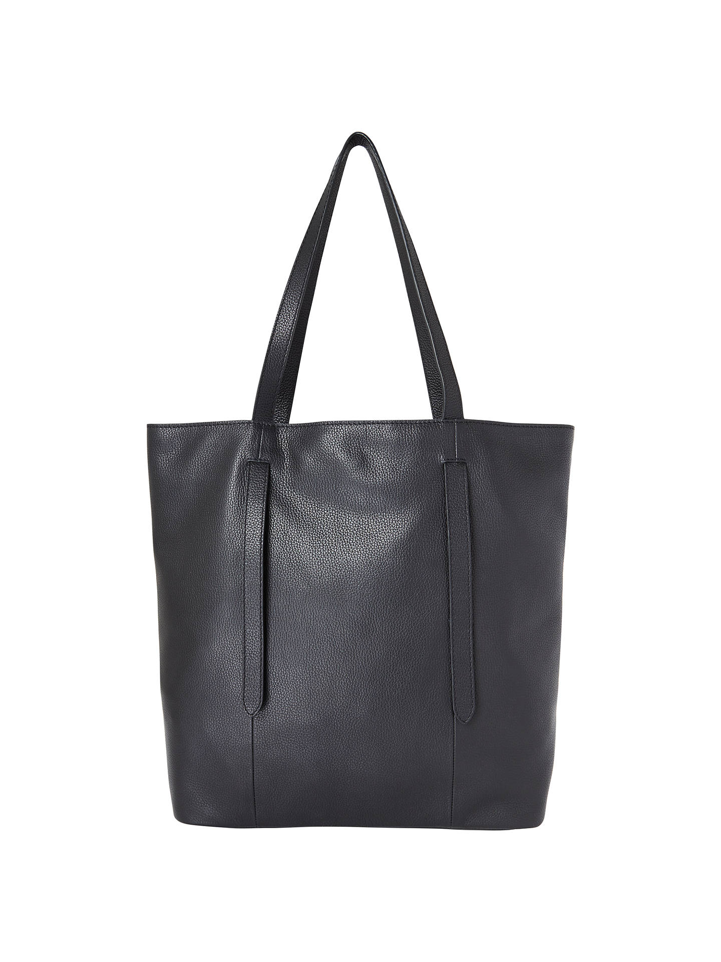 John Lewis Partners Cecilia Leather North South Tote Bag Black Online At Johnlewis