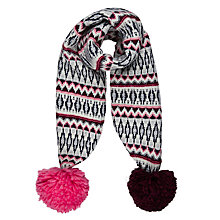 Buy John Lewis Children's Geometric Fair Isle Scarf, Multi Online at johnlewis.com