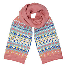 Buy John Lewis Children's Pretty Fair Isle Scarf, Multi Online at johnlewis.com