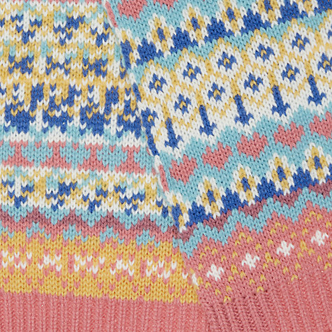 Buy John Lewis Children's Pretty Fair Isle Scarf, Multi | John Lewis