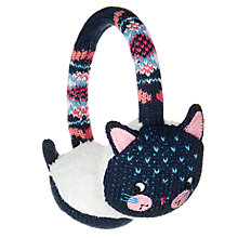 Buy John Lewis Children's Cat Ear Muffs, Navy Online at johnlewis.com