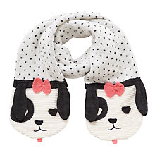Buy John Lewis Children's Novelty Dalmatian Scarf, Black/White Online at johnlewis.com