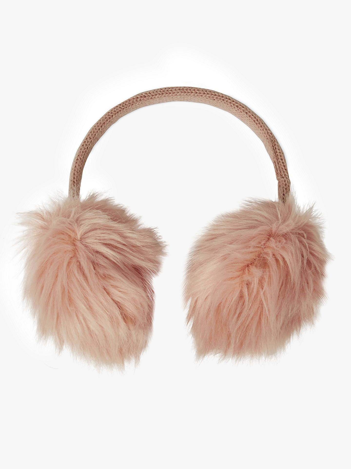 BuyJohn Lewis & Partners Children's Faux Fur Ear Muffs, Pink Online at johnlewis.com