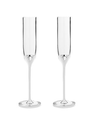 Vera Wang for Wedgwood Love Always Toasting Flutes, Silver