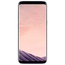 Buy Samsung Galaxy S8 Smartphone, Orchid Grey and Griffin Reveal Case Online at johnlewis.com