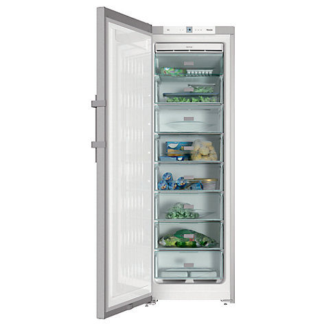 Buy Miele FN28262 Freestanding Freezer, A++ Energy Rating, 60cm Wide, Silver Online at johnlewis.com