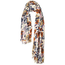 Buy Fat Face Abstract Floral Print Scarf, Multi Online at johnlewis.com