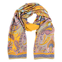 Buy Powder Satin Paisley Print Scarf, Mustard/Multi Online at johnlewis.com