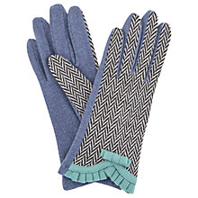 Buy Powder Victoria Wool Blend Gloves, Navy Online at johnlewis.com