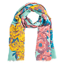 Buy Powder Floral Print Scarf, Teal/Multi Online at johnlewis.com