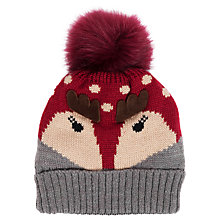 Buy Powder Cosy Reindeer Pom Pom Beanie Hat Online at johnlewis.com