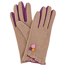 Buy Powder Isabela Wool Blend Gloves, Camel Online at johnlewis.com