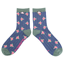 Buy Powder Rosebud Ankle Socks, Navy Online at johnlewis.com