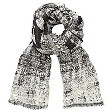 Buy John Lewis Checkerboard Slub Scarf, Black/White Online at johnlewis.com